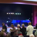 senior citizens at dueling piano show