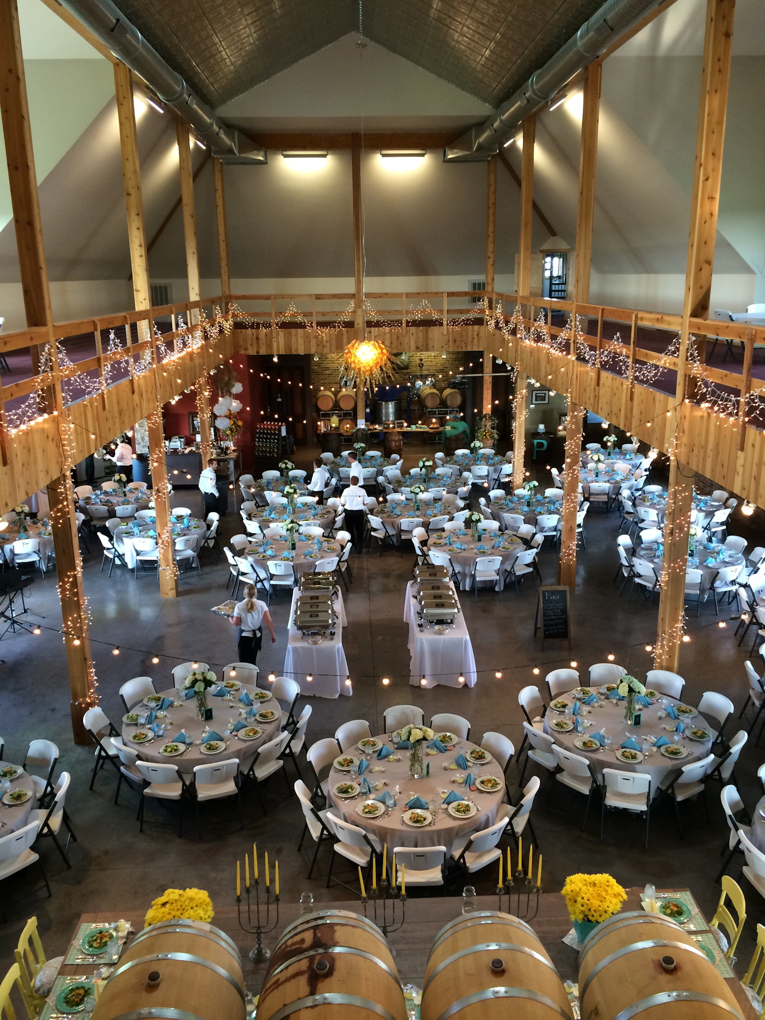 Loft View Of Breitenbach Winery Tool Shed Wedding Reception