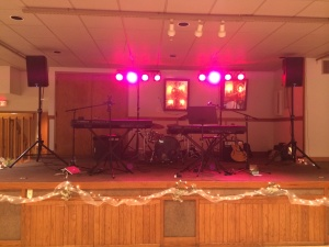 Eagles Lodge Band Set Up - Mattoon