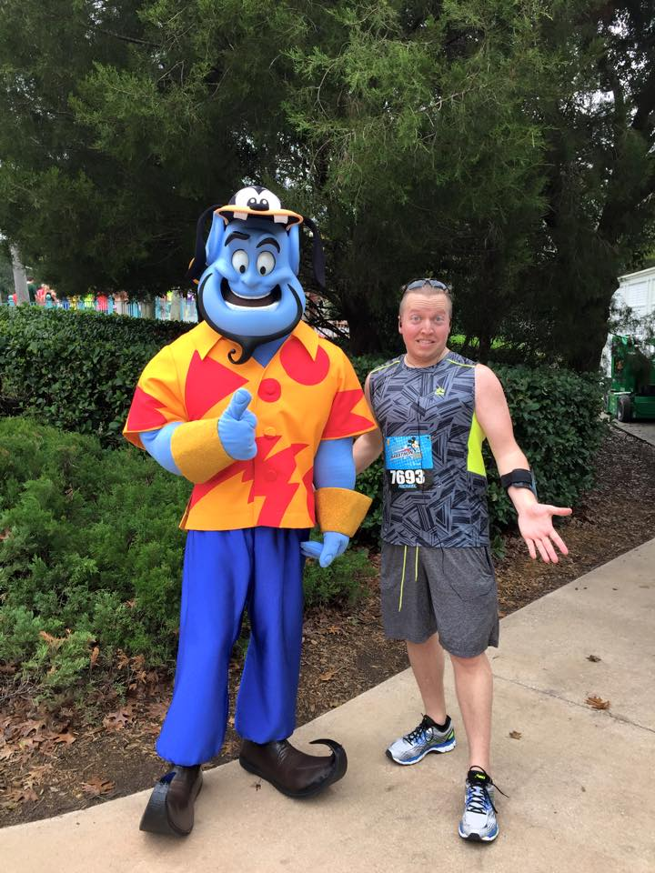mike at disney marathon