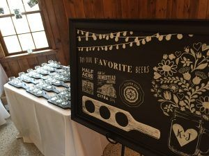 Indie style wedding chalkboard sign