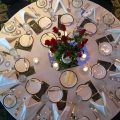 Baseball love story table setting