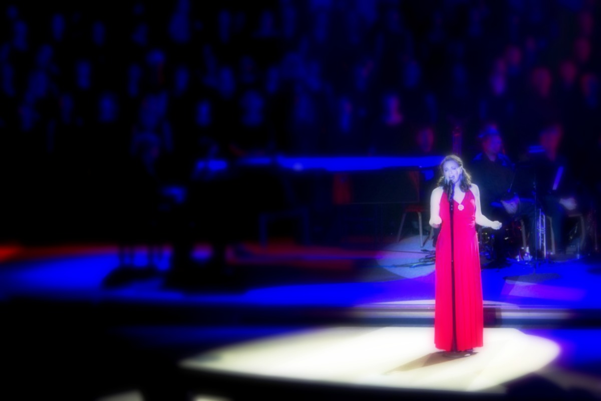 katie pinder brown solo vocal performance stage