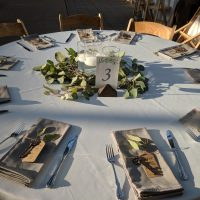 Garfield Park Conservatory Wedding table setting