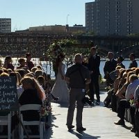 Prairie Street Brewhouse Wedding outdoor ceremony