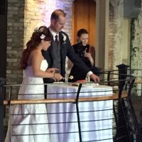 Prairie Street Brewhouse Wedding cake cutting