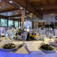 Chicago Yacht Club Wedding table setting