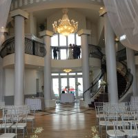 Chateaux Winter Wedding grand staircase