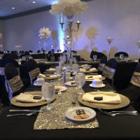 Effingham Convention Center Wedding table setting