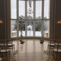 Chateaux Winter Wedding background