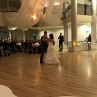 Chateaux Winter Wedding first dance