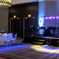 Hyatt Regency Schaumburg Wedding stage area