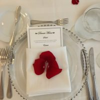 Hyatt Regency Schaumburg Wedding place setting