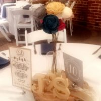 Longworth Hall Event Center Wedding centerpiece