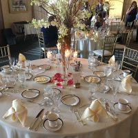 Boulder Ridge Wedding Event table setting