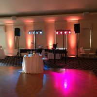 Guyan Country Club Wedding stage area