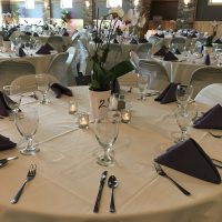 Wisconsin Riverside Resort Wedding table setting