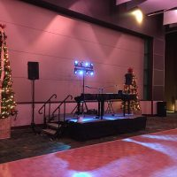 Cedar Rapids Doubletree Holiday Party stage