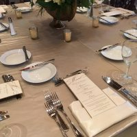 Hyatt Lodge Oakbrook Wedding table setting