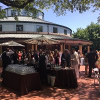 Audubon Tea Room Wedding courtyard