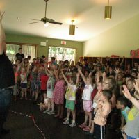 Adler Day Camp Performance enthusiastic audience