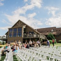 Milford Hills Hunt Club Wedding outdoor view
