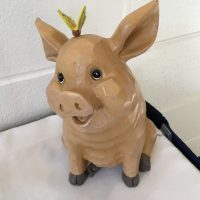 St Mary Memorial Hall Wedding pig decoration