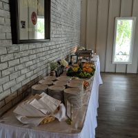 Lakeside Country Club Post Wedding Party buffet table