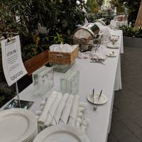 Crystal Gardens Corporate Event food station