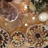 Bolingbrook Country Club Wedding sweets table