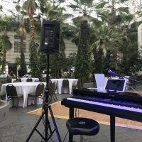 Crystal Gardens Corporate Event piano set up