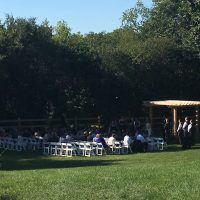Rustic Manor Wisconsin Wedding outdoor ceremony