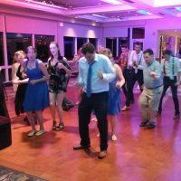 River Club Baseball Wedding line dancing