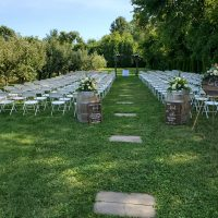 County Line Orchard Summer Wedding ceremony location