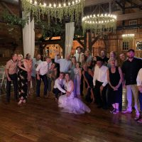 Creekside Event Barn Wedding party